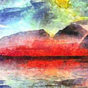 Mountains Of Fire Art Print
