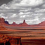 Mountains, West Coast, Monument Valley Art Print