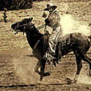 Mounted Shooting Art Print