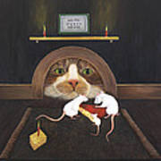 Mouse House Art Print