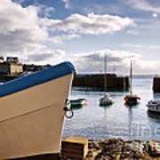 Mousehole Harbour On A May Morning Art Print