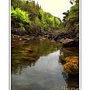 Mouth Of The Brook - Calm - Shallow Water Art Print