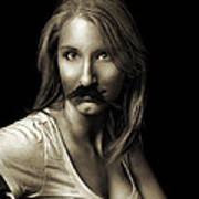 Movember Sixth Art Print by Ashley King