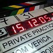 Movie Slate From Private Parctice Art Print