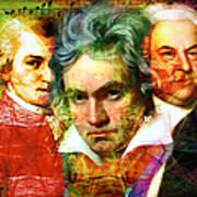 Mozart Beethoven Bach 20140128 Art Print