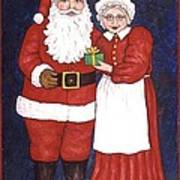 Mr And Mrs Claus Art Print