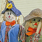 Mr And Mrs Scarecrow Art Print