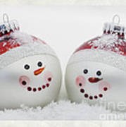 Mr. And Mrs. Snowman Art Print