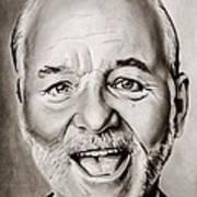 Mr Bill Murray Art Print by Brian Broadway