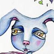 Mr Happy Bunny Art Print