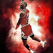 Mr. Michael Jeffrey Jordan Aka Air Jordan Mj Art Print