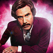 Mr. Ron Mr. Ron Burgundy From Anchorman Art Print