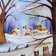 Mrs. Dunn's Winter Art Print