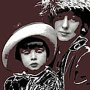 Mrs. Evelyn Nesbit Thaw And Son Arnold Genthe Photo New York 1913-2014 Art Print