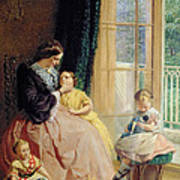 Mrs Hicks Mary Rosa And Elgar Art Print