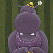 Mrs. Hippo Art Print by Christy Beckwith