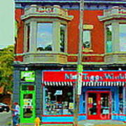 Mrs Tiggy Winkle's Toy Shop And Lost Marbles Richmond Rd The Glebe Paintings Ottawa Scenes C Spandau Art Print
