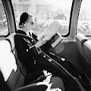 Mrs. William Mcmanus Reading On A Train Art Print