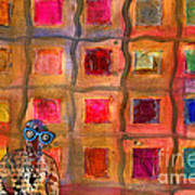 Ms Cool Goes Window Watching In Color Art Print