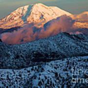 Mt Adams Sunset Art Print