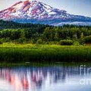 Mt Adams Sunset Art Print