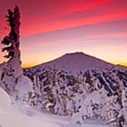 Mt. Bachelor Winter Twilight Art Print