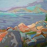 Mt. Desert From Schoodic Point Art Print