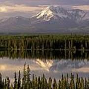 Mt Drum Over Willow Lake Wrangell-st Art Print