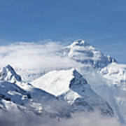 Mt Everest, From Mt Everest Base Camp Art Print