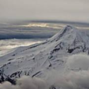 Mt. Hood Between Clouds Art Print