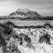 Mt Illimani In Monochrome Art Print