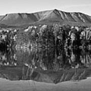 Mt Katahdin Black And White Art Print