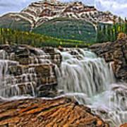 Mt. Kerkeslin  Athabasca Falls Art Print