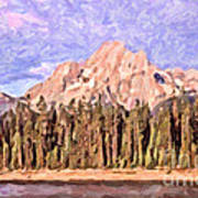 Mt Moran From Colter Bay Art Print