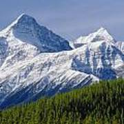 1m3627-mt. Outram And Mt. Forbes Art Print