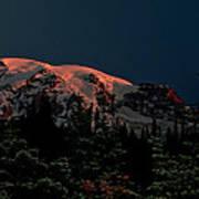 Mt Rainier At Dawn Art Print