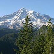 Mt. Rainier In Summer Art Print