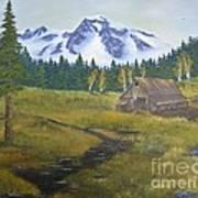 Mt Rainier Ranch Art Print