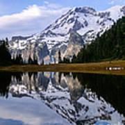Mt. Rainier On Aurora Lake Art Print