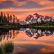 Mt. Shuksan - Picture Lake Art Print