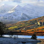 Mt Snowdon Snowdonia The Snowdon Horseshoe From Llynnau Mymbyr Art Print
