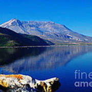 Mt St Helens Reflecting Into Spirit Lake   Art Print