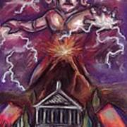 Mt. Vesuvius - Jupiter's Fury Art Print