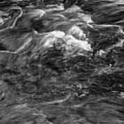Mtn Stream Bw3 Art Print