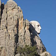 Mt.Rushmore from behind Art Print