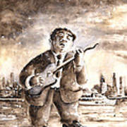 Muddy Waters In Chicago Art Print