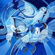 Muge's Pigeons Art Print