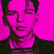 Mugshot Frank Sinatra V1m80 Print by Wingsdomain Art and Photography