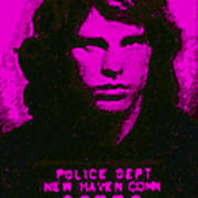 Mugshot Jim Morrison M88 Art Print by Wingsdomain Art and Photography