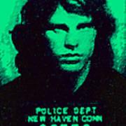 Mugshot Jim Morrison P128 Print by Wingsdomain Art and Photography